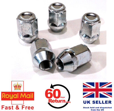 Chrysler VOYAGER alloy wheel nuts M12 x 1.5 taper 19mm Hex set of 5
