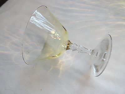 Set Of 11 Yellow Depression Glass Cocktail Glasses~Delicate And Perfect