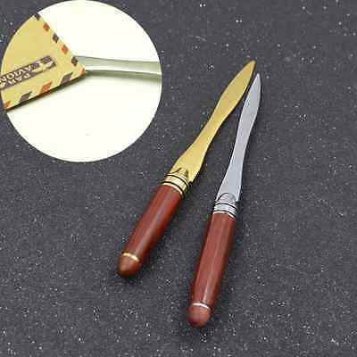 Wood Handle Stainless Steel Letter Opener Briefopener Accessory Cutting Supplies