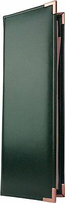 "25 Two Panel, Two View Menu Covers - 14"" x 4.25"" in Green (VGT-240GR-P)"