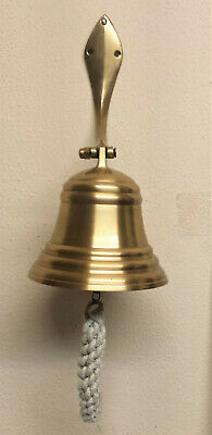 Brass Ship Bell Wall Hanging Bracket Double Polished For Pub School Choose Size