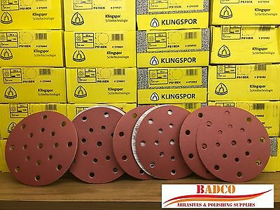 150mm Sanding discs / Sandpaper KLINGSPOR Hook & Loop , FESTOOL Rotex