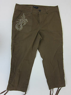 Tribal Cargo Pants - Womens 10 - Brown - Preowned
