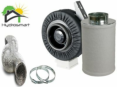 Odour Control Kit Heavy Duty Centrifugal Extractor Fan Carbon Filter Ducting