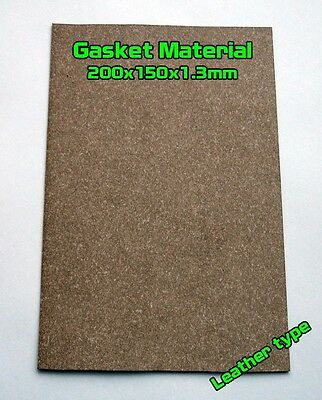 Gasket Leather type Material Sheet 20x15cm 1.3mm Oil Fuel Resistant