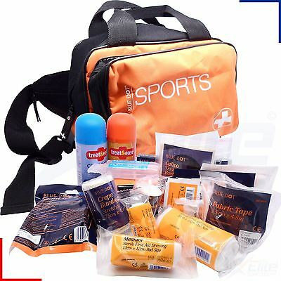 Blue Dot Premium Essential Sports First Aid Kit Small Orange Bag Holdall