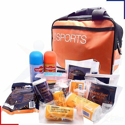 Blue Dot Premium Standard Sports First Aid Kit Medium Orange Bag Holdall