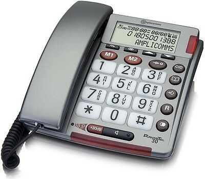 Amplicomms Powertel 30 Amplified Big Button Corded Telephone