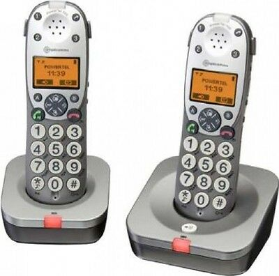 Amplicomms Powertel 702 Big Button Twin Cordless Amplified DECT Telephone