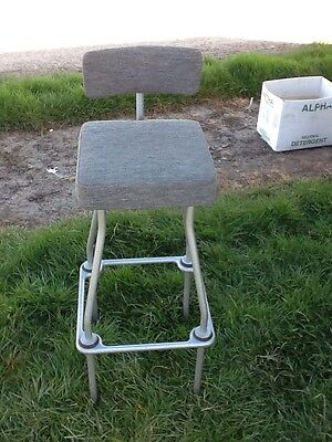 vintage 1950 industrial work chair