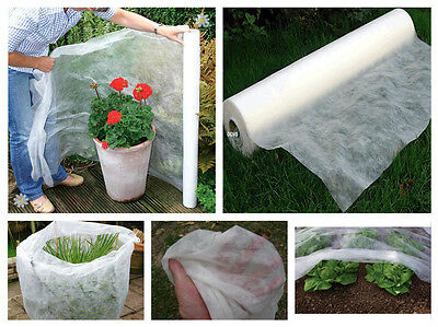 10M x 1.6M Frost & Insect Protection Sheet Roll Garden Plants Crop Fleece Protec