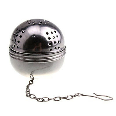 Stainless Steel Egg Shaped Tea Kettles Infuser Strainer Locking Spices Ball BF