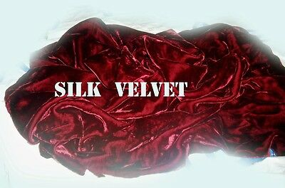 Vintage Silk Velvet Fabric Pc 45 Inches Long At Widest Point Excellent Condition