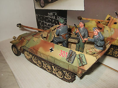 Rare King and Country WS131 SD KFZ.251/22 Ausf.D Pakwagen & 3 Crew Men (Summer)