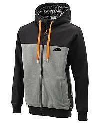 KTM Men's Premium Zip Hoodie Black and Grey