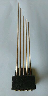 Tuned Westminster Chime Gongs Low Hammer Back 5 Bronze Rods. Longest 250mm