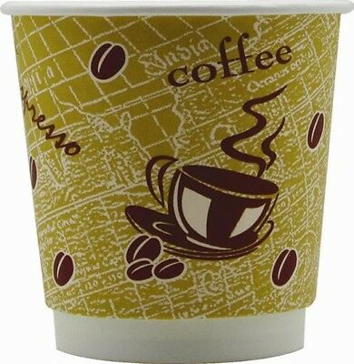 4Aces Double Wall Insulated Disposable Paper Coffee Cup 8oz Red Bean | 500 Pack