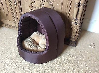 Hooded Puppy Or Cat Bed With Removable Cushion, w30cmxD23cmxH30cm
