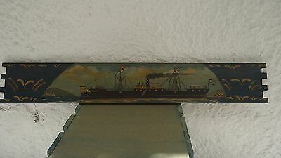 Vintage Hand Painted Greek Boat - Oil Painting on the wood