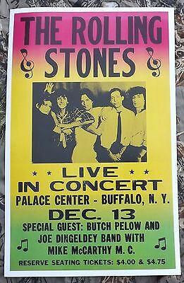 Vintage Rolling Stones Concert Poster 1965 Palace Center - Buffalo, NY -