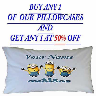 Personalised Minions  Inspired Children's Kids Pillowcase Christmas Gift