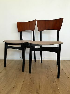 Pair Vintage G Plan Butterfly Chairs 1960's Black And Tola Superb Cond. COURIER