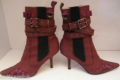 CHRISTIAN DIOR, bottines vintage, taille 36,tissus et cuir-made in italy,n°A1