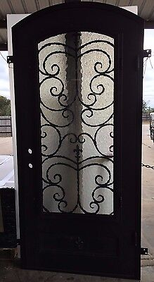 Iron Doors Unlimited Orleans Series Forged Single Entry Door w/Glass