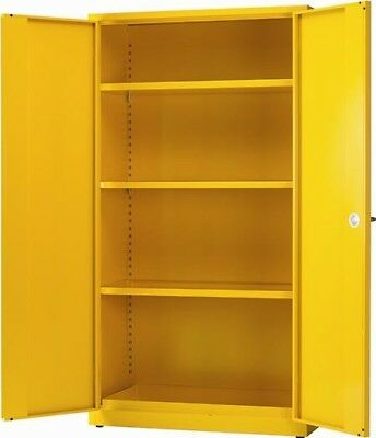 VFM Hazardous Substance Storage Cabinet Cupboard Unit 3 Shelf 72x36"
