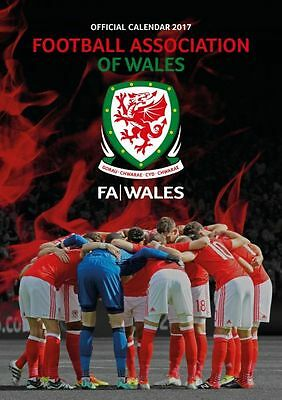 Wales National Football Team 2017 Official A3 Calendar Calender FAW Red Dragons
