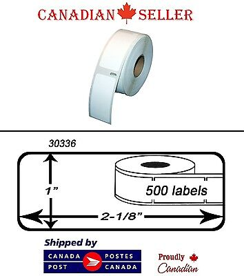 "6 Rolls of Dymo 30336 Compatible 1"" x 2-1/8"" Thermal Multipurpose Labels"