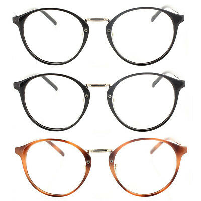 4ca98054115 Fiore 3 Pack Professor Vintage Round Reading Glasses for Men and Women