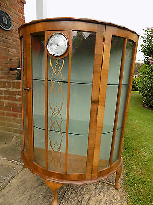 Art Deco style Walnut (Drinks/Glass) cabinet made by L Serlin & Sons c1930.
