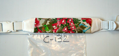 Peritoneal Dialysis Belt C-132 green frog and pink orchids
