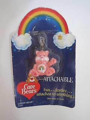 Vintage CARE BEARS Attachable Cheer Bear Zipper Key Tote Jewelry 1984