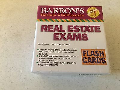Barrons Real Estate Exams Flash Cards (100% Complete)