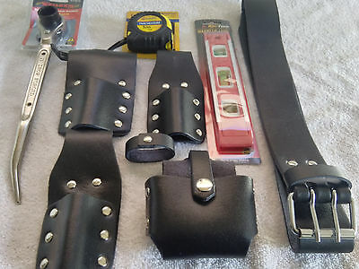 Scaffolding Leather Tool Set Belt - 3PCS ToolSet, Scaffold Spanner 17/21