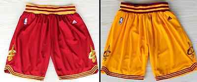 Cavaliers Basketball Shorts Cleveland Cavs Stitched Men Sport Pants Yellow Red