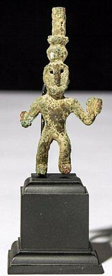 Ancient Assyrian Bronze Figure .