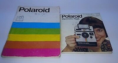 Polaroid Land Camera 1000 OneStep and Polaroid flash #2351 Instruction manuals