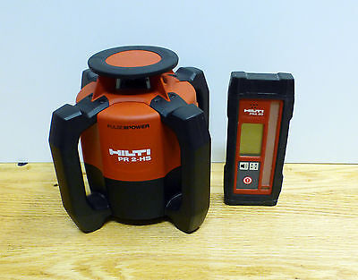Hilti PR 2-HS Rotary Laser Self-leveling Level with PRA 20 Receiver Great Cond