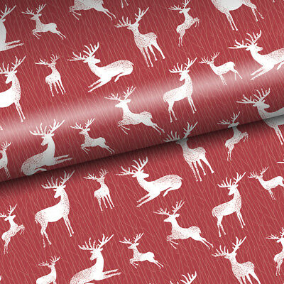 NEW Vandoros Reindeer Red Christmas Wrapping Paper