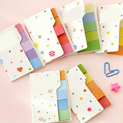 Cute Rainbow Sticker Bookmark Marker Flags Index Tab Sticky Notes  WK