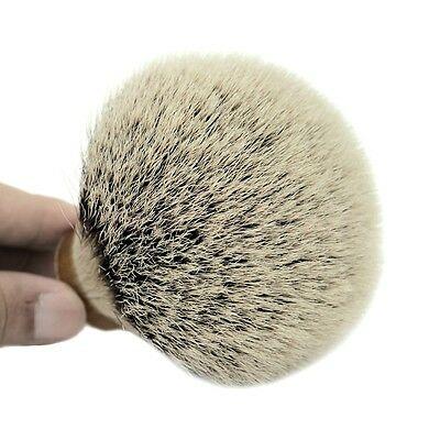 Luxury 30*80mm Knot Silver Tip Badger Hair Shaving Brush Head Barber Salon DIY