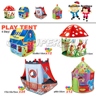 Fun Play Tent Train Play Vehicle Tent Indoor/Outdoor Kids AU Stock