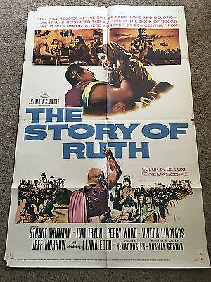 """1960 The Story of Ruth Original 1 Sheet Movie Poster 27"""" X 41"""" - Estate"""
