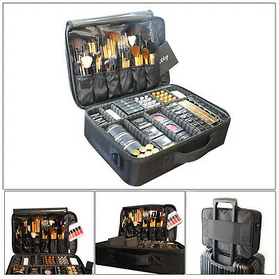 Professional Large Capacity Toiletries Makeup Bag Cosmetic Organizer Box Case