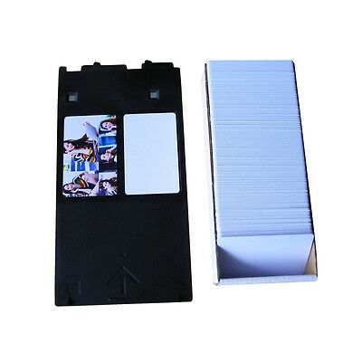 1pc PVC Card Tray for Canon J + 50pcs Blank Business Cards For Canon printing