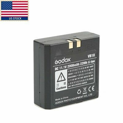 US 2016 Improved Godox VB18 Li-ion Battery for V850 V860C V860N Speedlite Flash