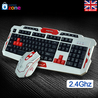 2.4G Gaming Wireless Keyboard and Mouse Set For Computer Multimedia Gamer 1 Set